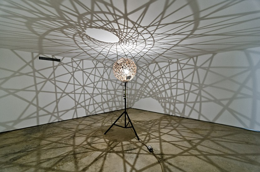 Olafur Eliasson, Five fold sphere projection lamp 2004, Mixed Media