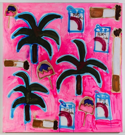 Katherine Bernhardt, Hilton Caribe 2015, Acrylic and spray paint on canvas